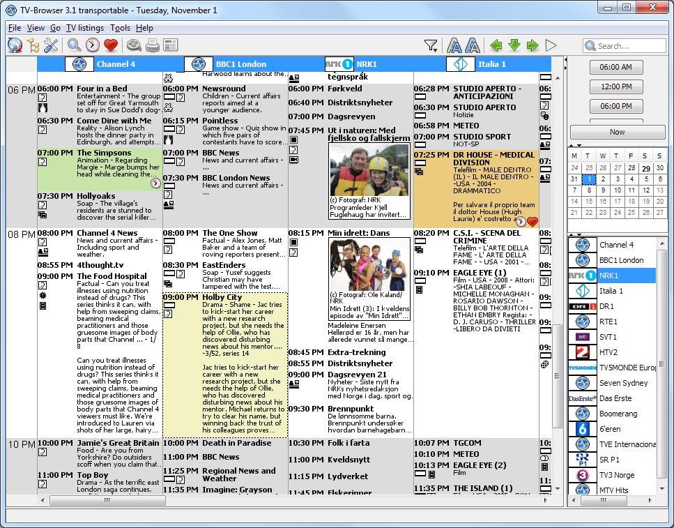 TV-Browser for Linux full screenshot