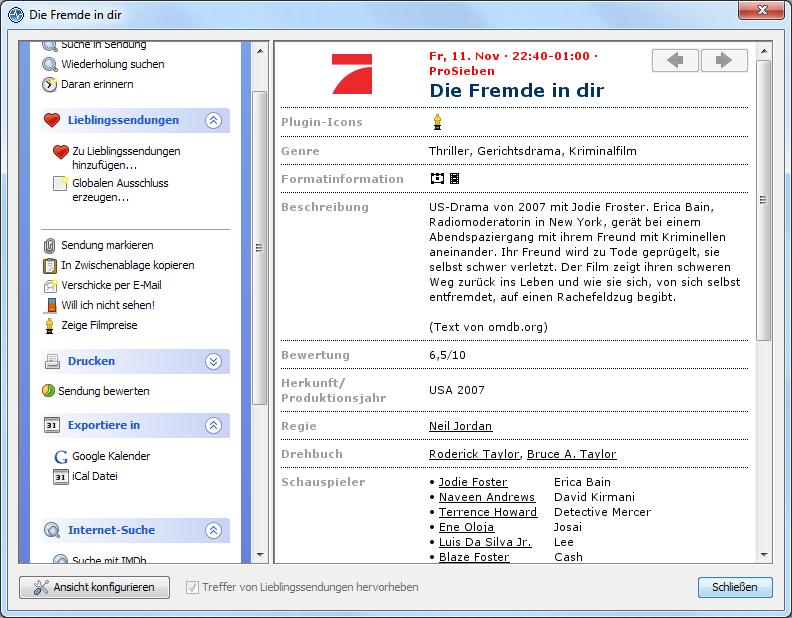 TV-Browser screenshot